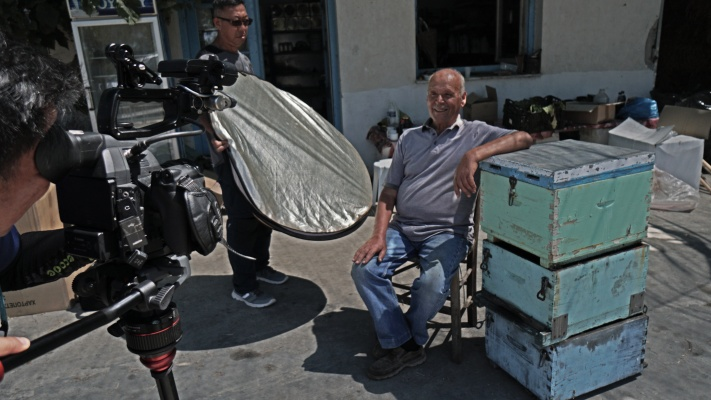 Filming on the Greek islands